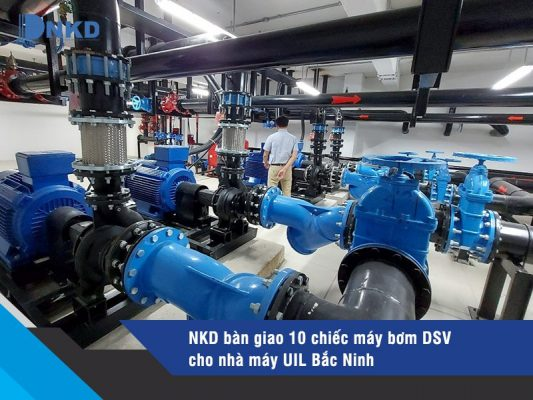 máy bơm trục ngang DSV đã được lắp đặt cho nhà máy UIL Bắc Ninh